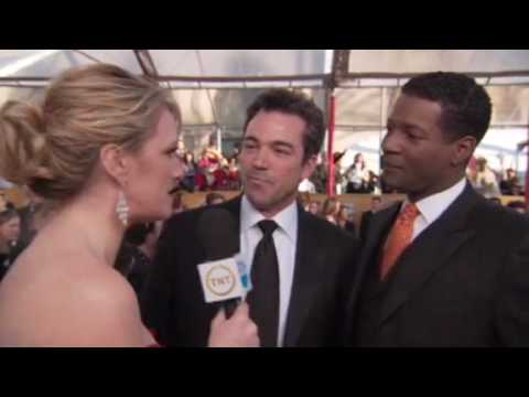 Jon Tenney and Corey Reynolds at The SAG Awards Red Carpet 2010