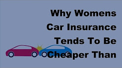 Why Womens Car Insurance Tends To Be Cheaper Than Mens  - 2017 Women Insurance Vs Men Insurance
