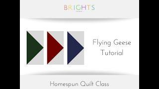 Homespun Quilt Along: Flying Geese