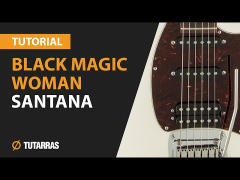 How To Play BLACK MAGIC WOMAN From Santana - Electric Guitar GUITAR LESSON