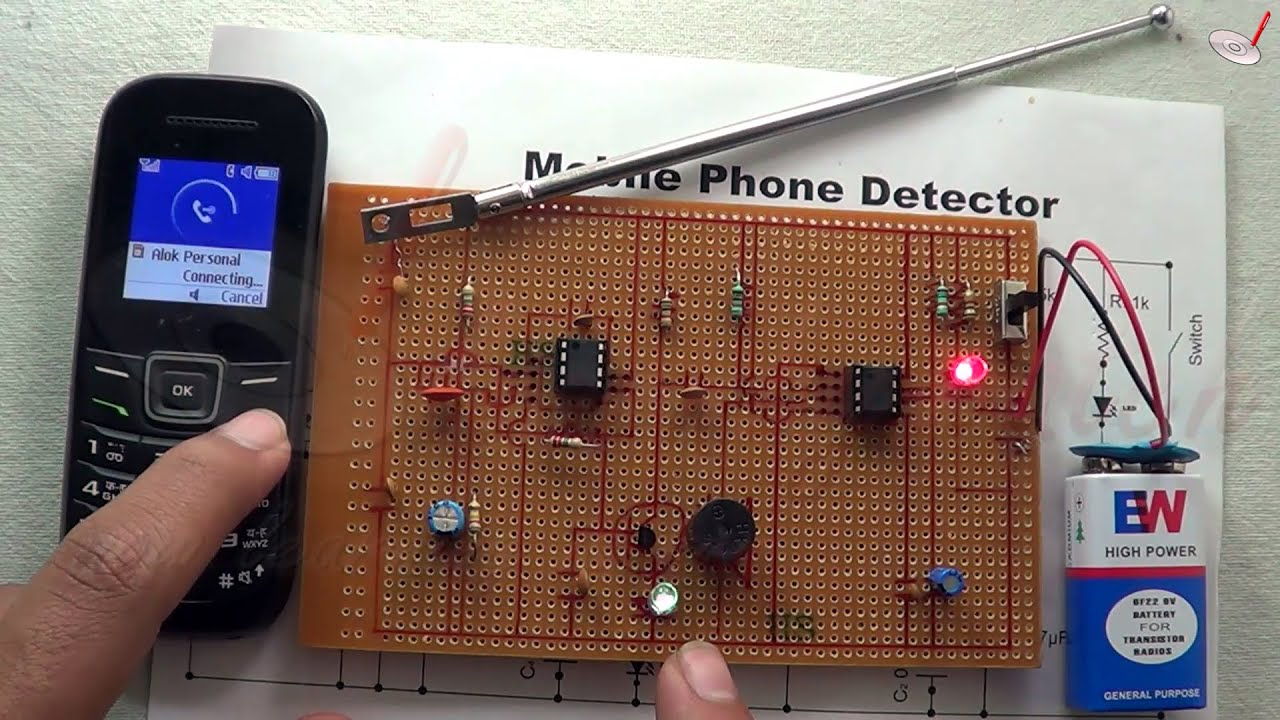 science project mobile phone detector youtube rh youtube com