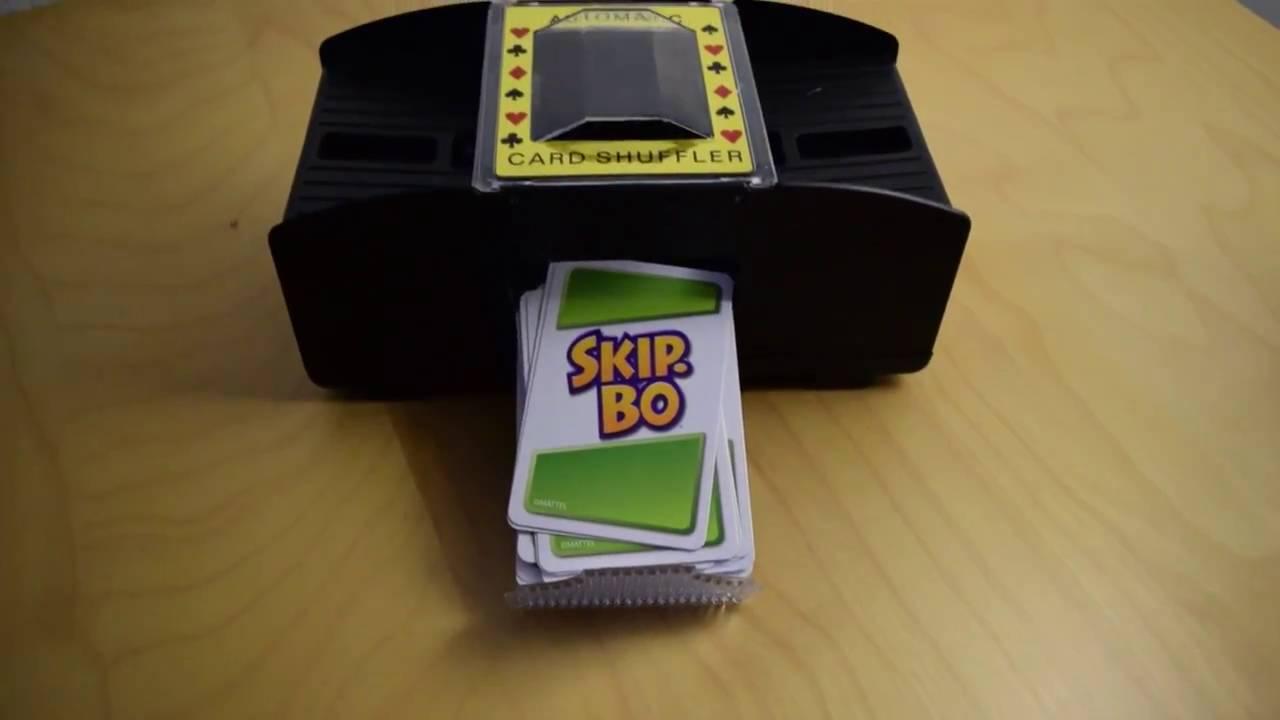 skipbo automatic card shuffler  youtube