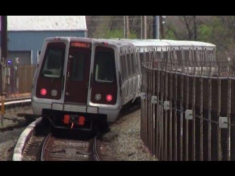 ᴴᴰ Washington Metro: Orange Line Train Leaving Deanwood