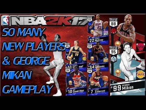 DIAMOND GEORGE MIKAN GAMEPLAY & SIX NEW PLAYERS!!! - NBA 2K17 MyTeam BLACKTOP