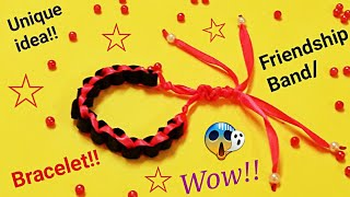 How To Make/ DIY Friendship Bracelets. Bracelet/ Friendship bracelets/friendship band making at home