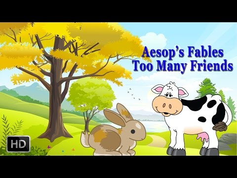 Aesop's Fables - Too Many Friends - Short Stories for Children - Animated Cartoons/Kids