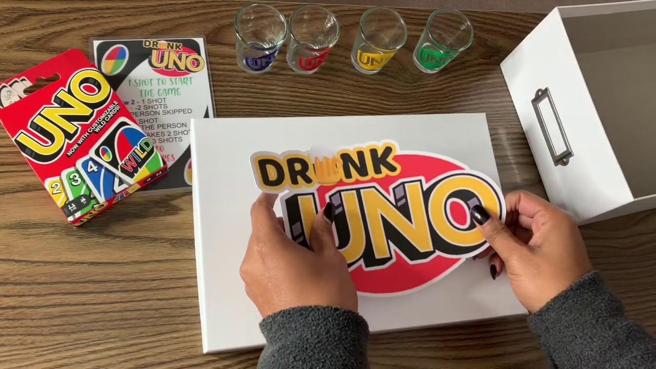 DIY Drunk Uno Card Game - YouTube
