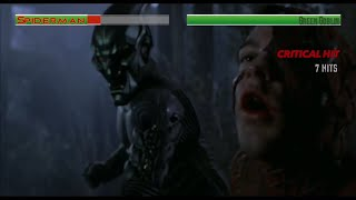 Spiderman vs Green Goblin...with healthbars