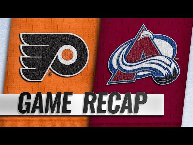 Wilson, Johnson lift Avalanche past Flyers, 5-2