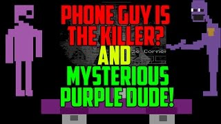 Five Nights at Freddy s 2 Phone Guy Is The Killer Mysterious Purple Dude Found