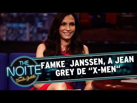 """The Noite 200814  Entrevista com Famke Janssen, a Jean Grey, de """"XMen"""""""