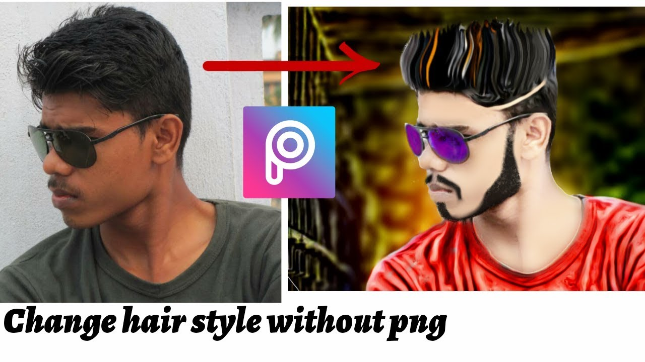 How To Change Hair Style In Picsarthdwith Out Any Png Hair Youtube
