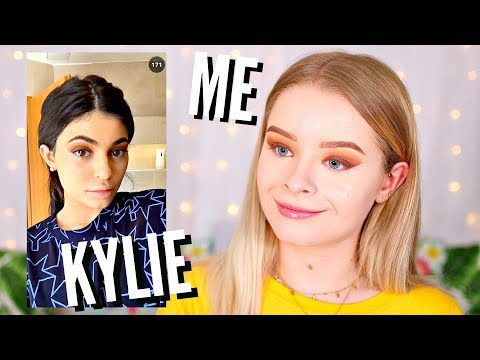 I TRIED OUT KYLIE JENNER'S MAKEUP ROUTINE.. | sophdoesnails
