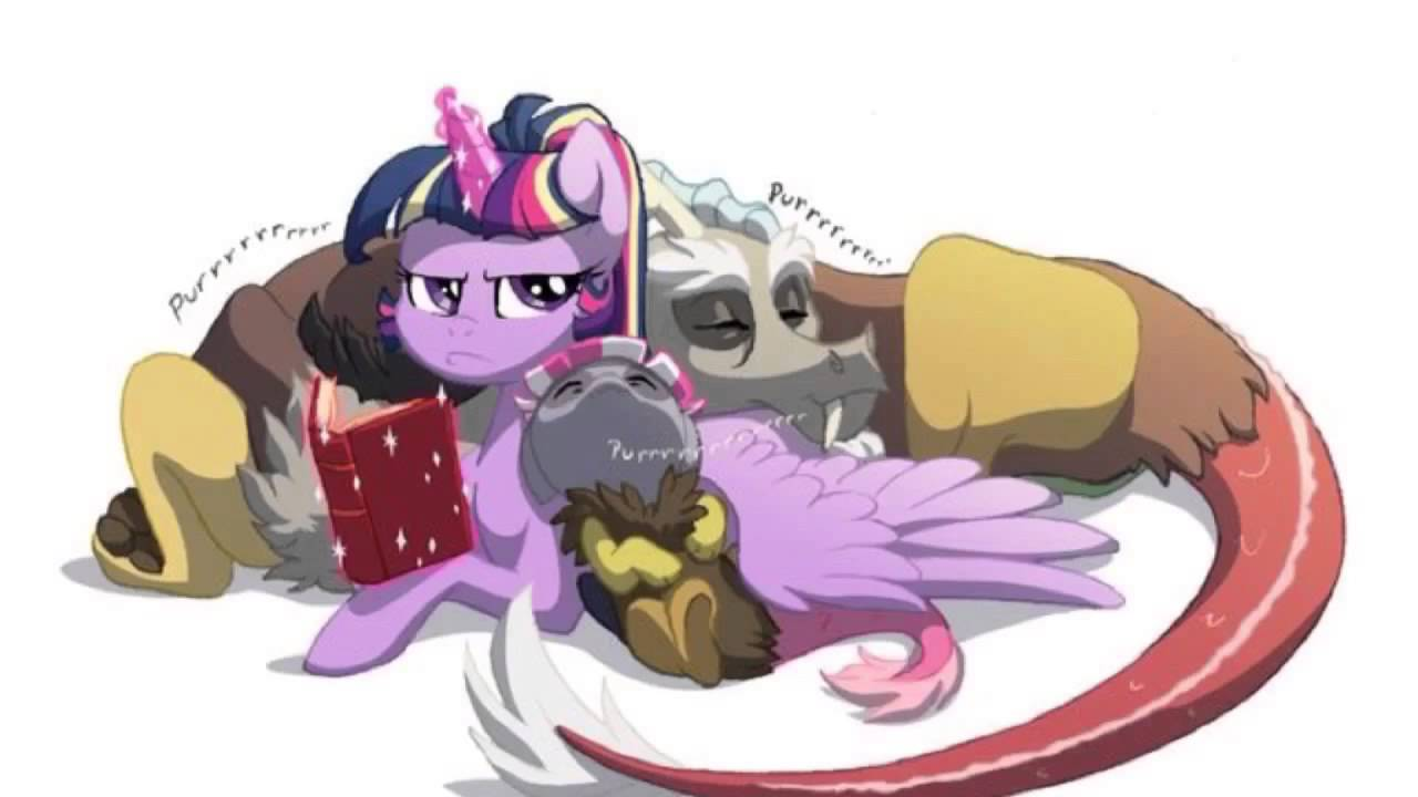 Twilight Sparkle And Discord In Love Twilight Sparkle and D...