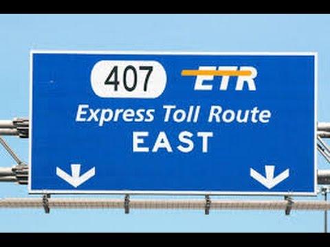 From 1997 - Opening Of Highway 407 In Ontario    ETR