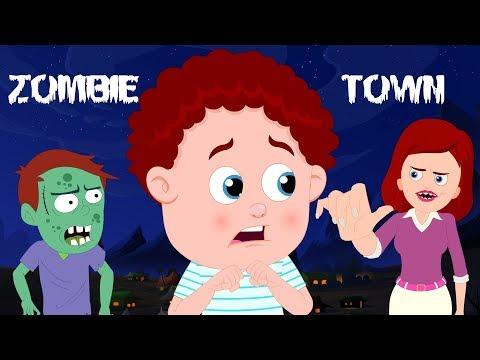 Zombie Town | Schoolies Cartoons | Halloween Songs & Rhymes For Children | Kids Channel