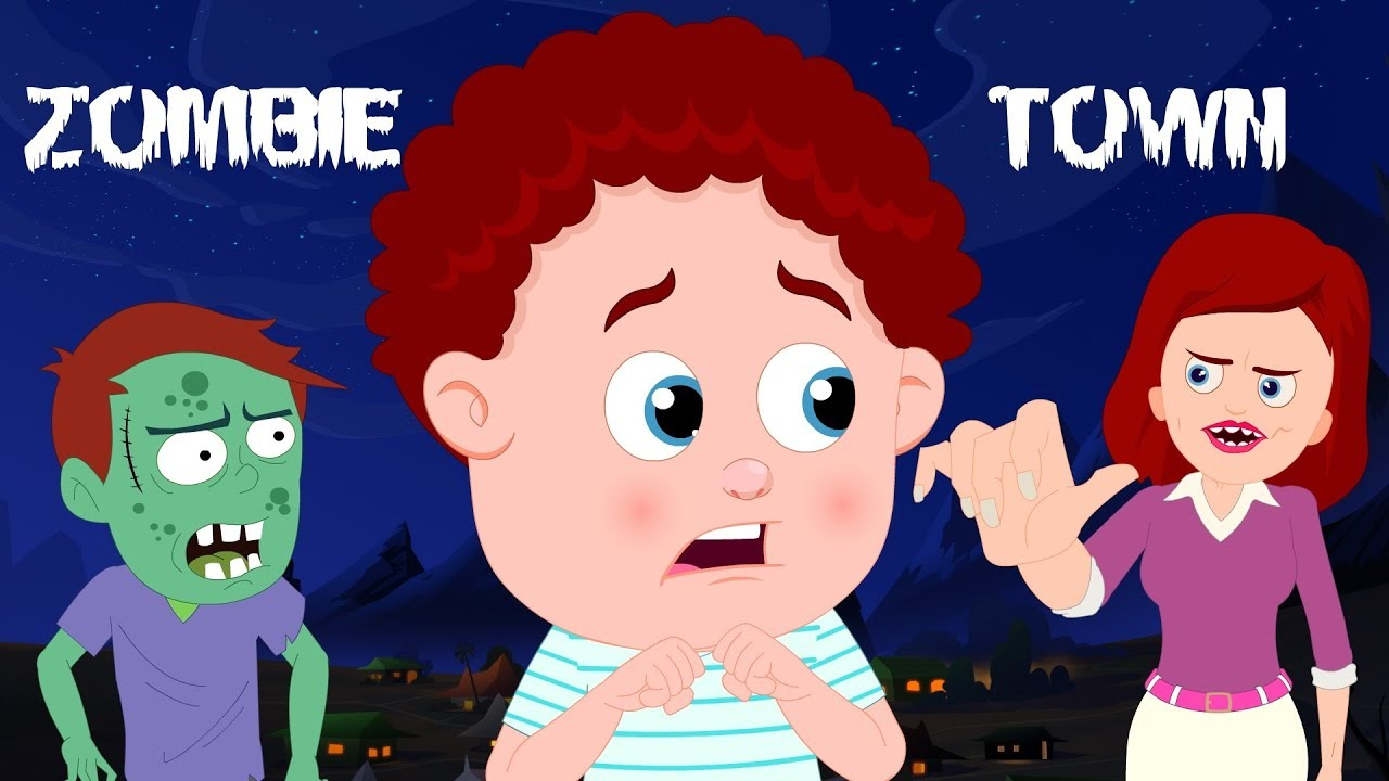 Zombie Town Schoolies Cartoons Halloween Songs Rhymes For Children Kids Channel Youtube
