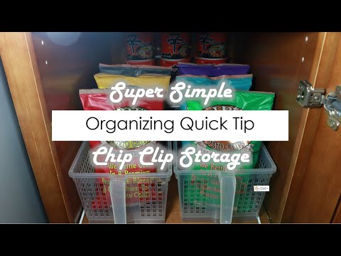 Organizing Tip Tuesday | Simple Chip Clip Storage (2018)