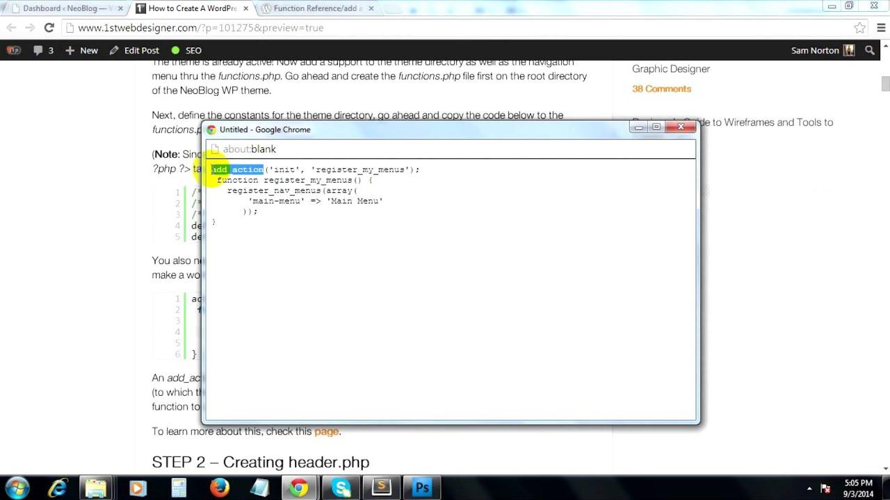 Add Custom Menu To WordPress Appearance and Define Constants in WordPress #4