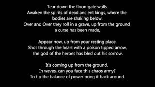 CRITICAL ASSEMBLY - DRAINING THE FLOOD - with lyrics