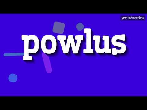 POWLUS - HOW TO PRONOUNCE IT!?
