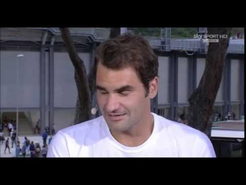 2015ATP Rome Roger Federer Interview Post QF Win On His Game His Daughter etc