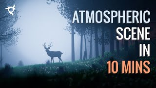 How to make an atmospheric scene under 10 mins! | Blender 2.8 Tutorial