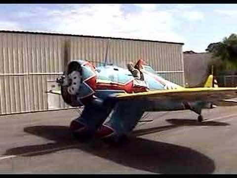 R-1340 radial engine start - Mayocraft P-26 aircraft - YouTube
