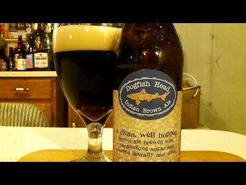 DogFish Head Indian Brown Ale (7.0% ABV) DJs BrewTube Beer Review #611