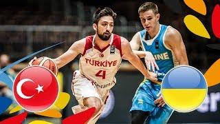 LIVE 🔴- Turkey v Ukraine - Round of 16 - FIBA U20 European Championship 2018