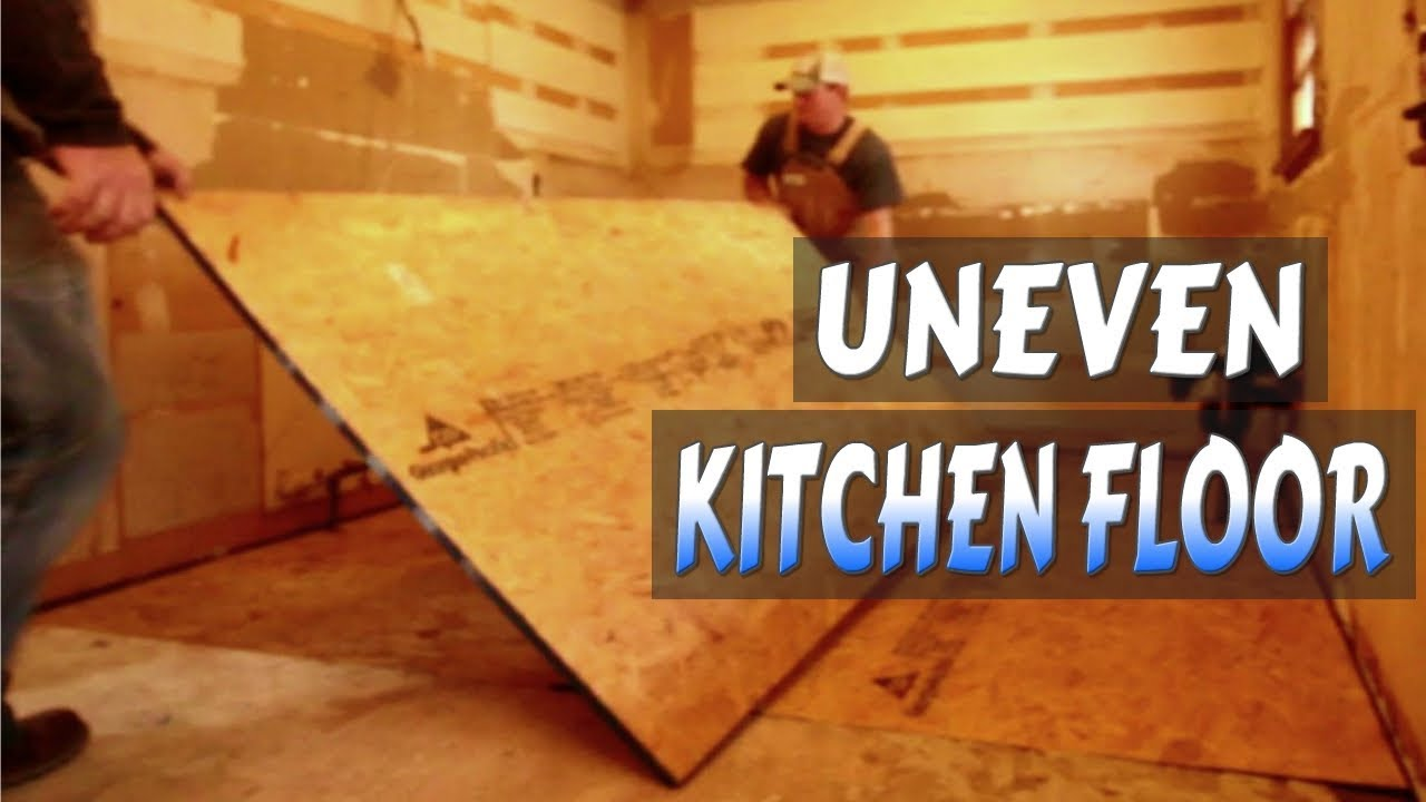 Replace Your Old Uneven Floor Cheap And Easy - YouTube