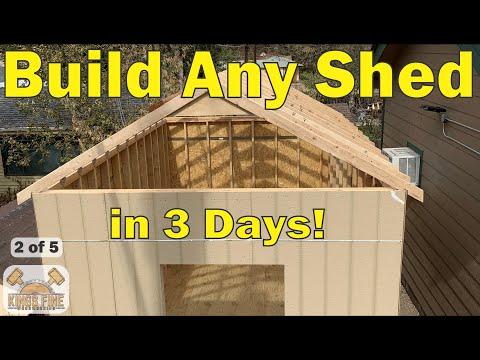 100 – Shed Build DIY Back Yard Storage part 2 Walls and Siding