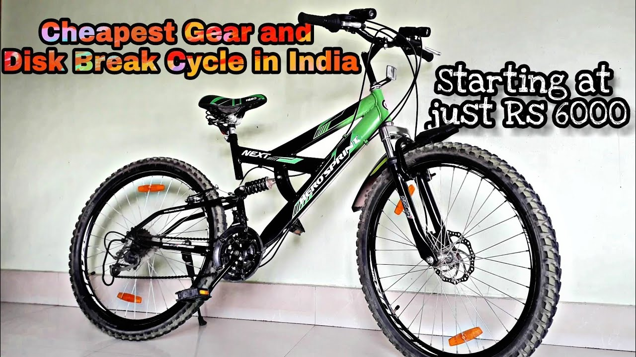 Cheapest Gear & Disk Break Cycle in India | Hero Sprint Next 26t 18 Speed Cycle | Review-Best Price