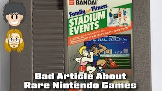 Bad Article About Rare and Expensive Nintendo Games - #CUPodcast