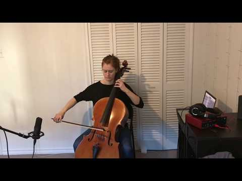 Popper Etude no. 1 - cello - Tess Crowther