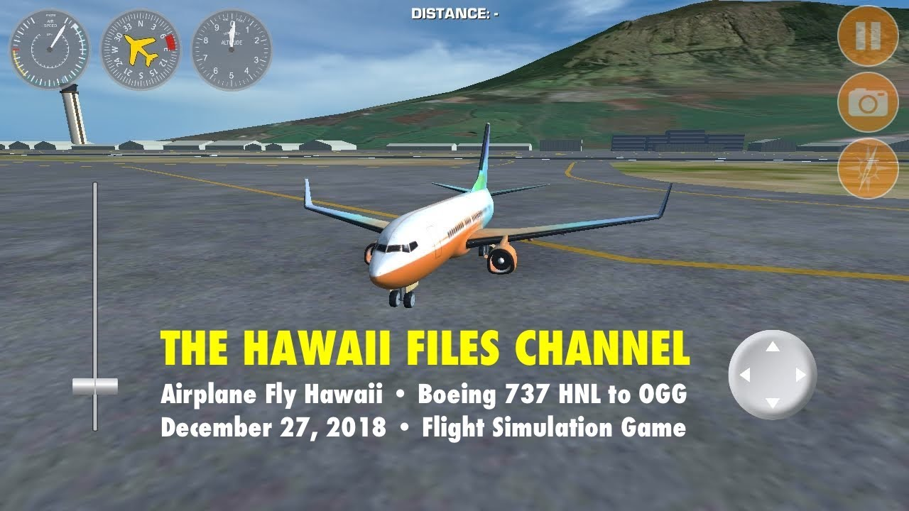 Airplane Fly Hawaii Game: Boeing 737 HNL to OGG