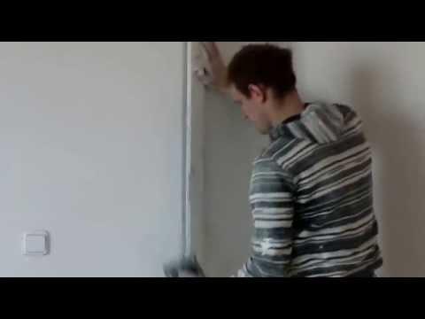 видео: Как выровнять, выравнивание , внешний наружный угол,  углов, углы, стен стены шпаклевкой