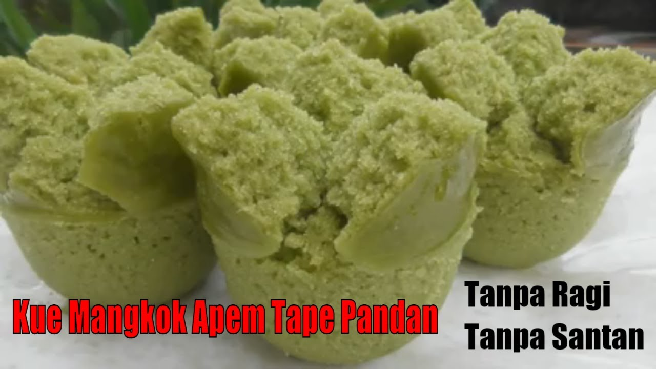 Recipe For Bowl Apem Cake Tape Pandan Without Yeast Coconut Milk