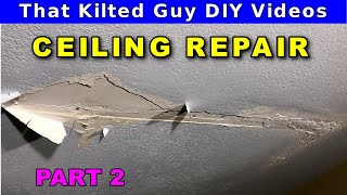 How to Repair a Water Damaged Drywall Ceiling - part 2 of 2