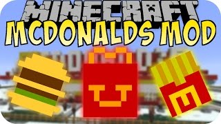 Minecraft MCDONALDS MOD (Big Mac, McRib, Pommes) [Deutsch]