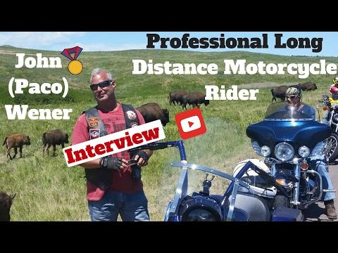 Professional Long Distance Motorcycle Rider - John (Paco) Wener