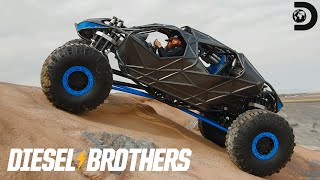 Build Reveal: A Batmobile Style Rock Crawler | Diesel Brothers