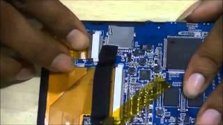 Change the touch screen of a Tablet PC
