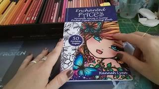 My adult coloring book collection : finished pics in my small sized books - part two