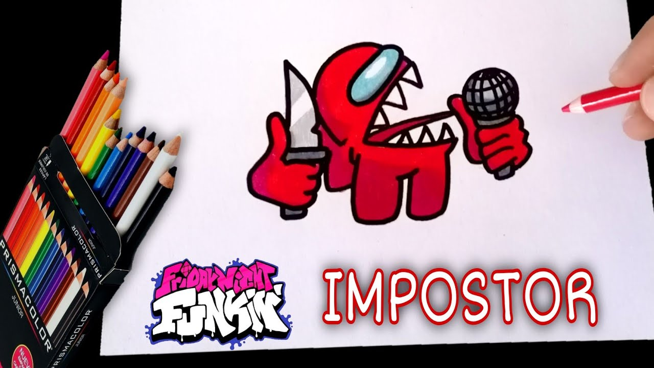 COMO DIBUJAR AL IMPOSTOR DE FRIDAY NIGHT FUNKIN | PASO A PASO | how to draw fnf impostor | CunsArt