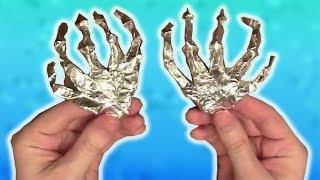Как сделать 3D руку из Алюминиевой фольги. Рука Киборга.