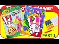 Part 1 - Shopkins Coloring Book Poppy Corn Crayola Markers Unboxing Toy Review by TheToyReviewer