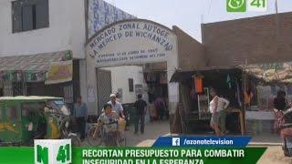 Recortan presupuesto para combatir delincuencia en La Esperanza - Trujillo