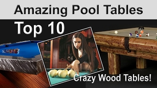 Amazing wood pool table designs - Top 10 Wood Pool Tables