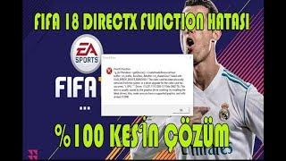 Fifa 18 Directx Function Hatası %100 KESİN ÇÖZÜMÜ